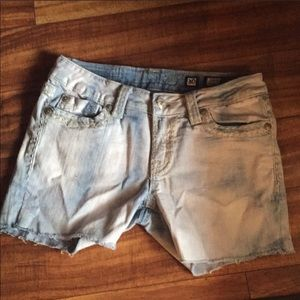 Miss Me shorts size 30 16 1/4 inch waist.